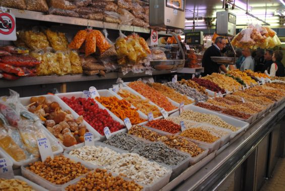Food in market in Valencia