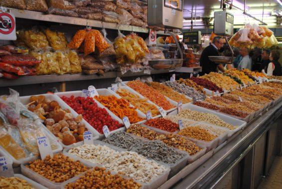 Food in market in Valencia