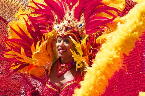 Learning about other cultures-woman at the brazilian carnival