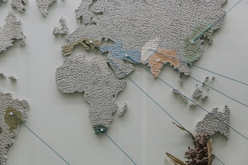 section of a world map, grey
