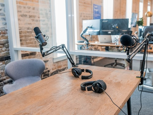 Studio for podcast
